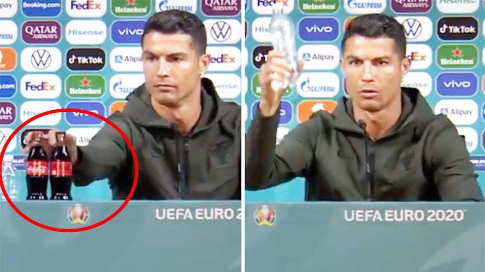 Cristiano Ronaldo Snubs Coca Cola Fitness